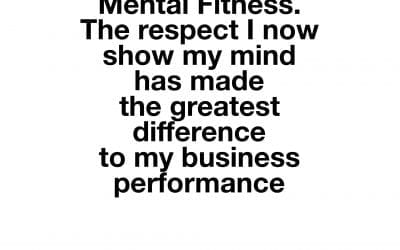 Mental Fitness is for all of us